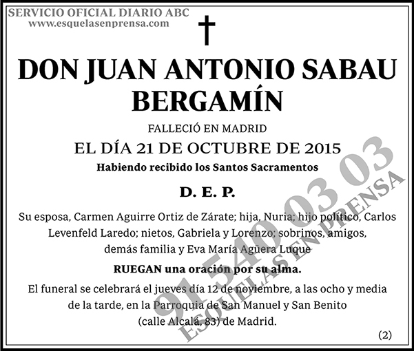 Juan Antonio Sabau Bergamín